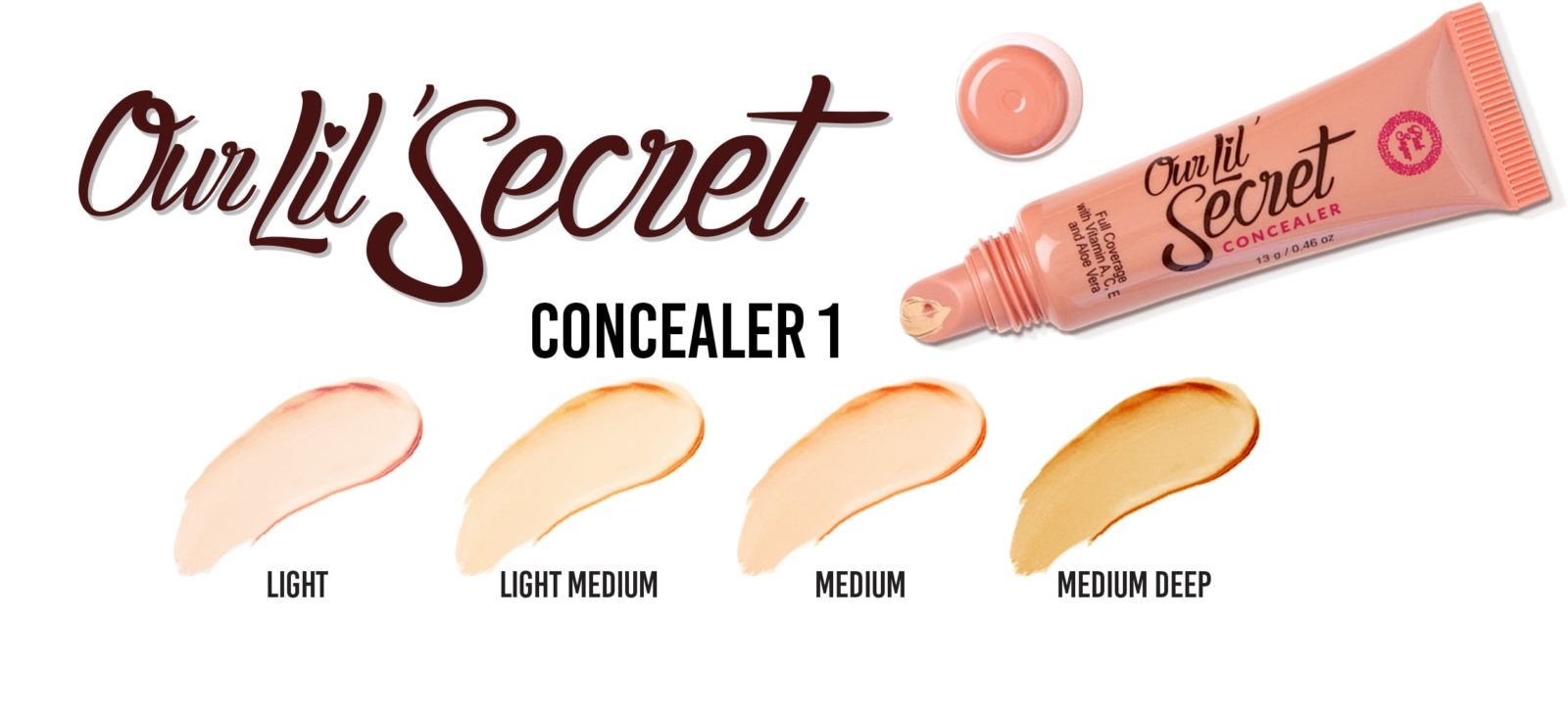 Our Lil' Secret Concealer Swatch Chart
