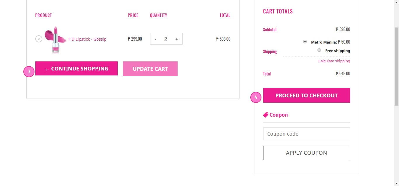 How to Update Products on Cart 3