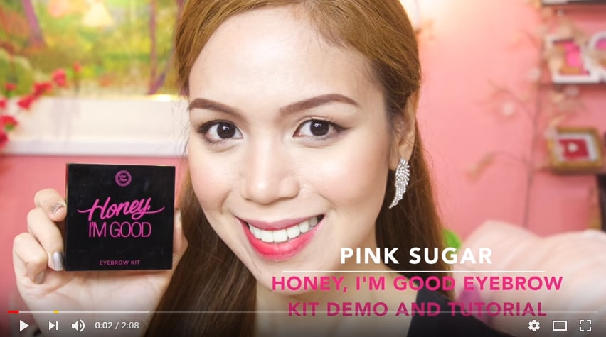 Pink Sugar Eyebrow Kit Demo and Tutorial Candyloveart