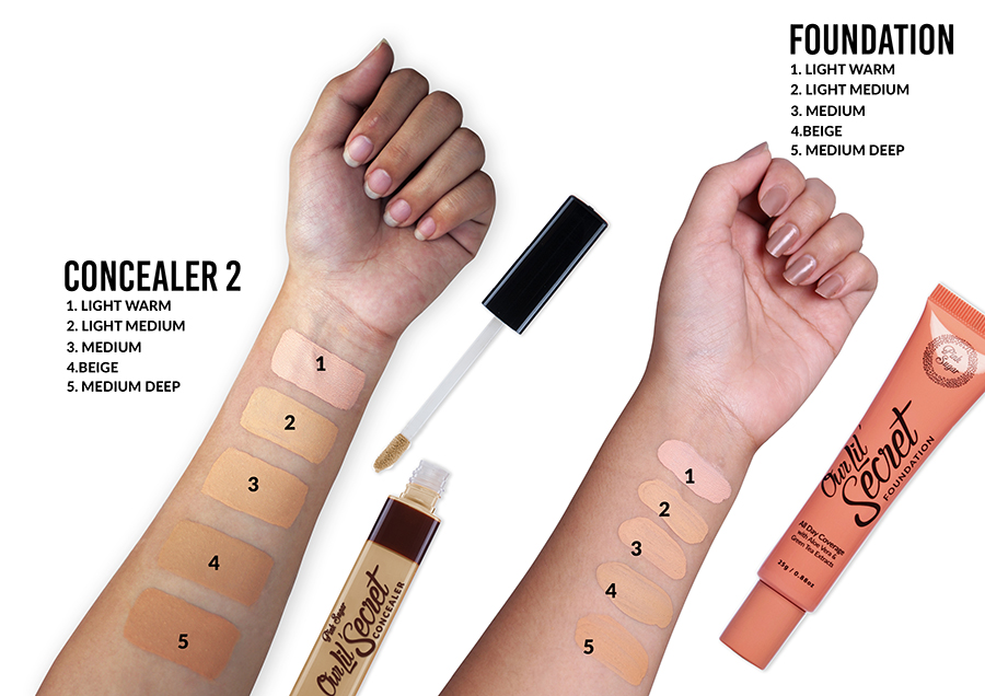 Concealer Foundation Arm Swatches